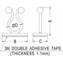 Clipsuri pt.cablu  Diam.bucla:8,5mm