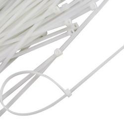 Cravata cablu 200x4 set 100 buc albe