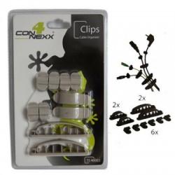Organizator cablu clip gri