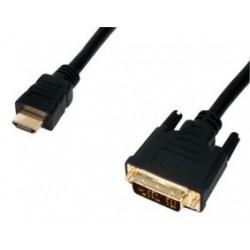 Cablu HDMI la DVI 1.8m gold