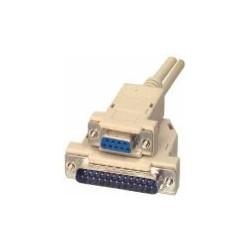 Cablu imprimanta serial D-SUB DB9 mama-DB25 tata 1.8m