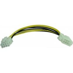 Cablu prelungitor alimentare EPS 8pini mama-8pini tata 28cm