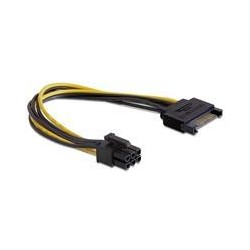 Cablu alimentare SATA 15pini - PCIe 6pini