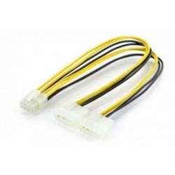 Cablu adaptor 2x4pini molex tata - 8pini tata PCIe 0.3m