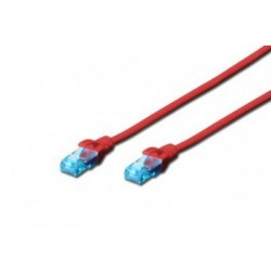 Patch cord - 1m rosu cat.5e Digitus