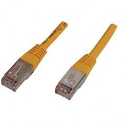 Cablu FTP Patch cord - 1m  galben cat 5